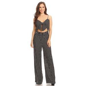 c3483089a13 Boutique Other - ELIANA Black   White Striped Jumpsuit